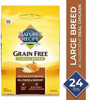 Nature's Recipe Grain Free Dry Dog Food Large Breed Chicken, Sweet Potato & Pumpkin Recipe
