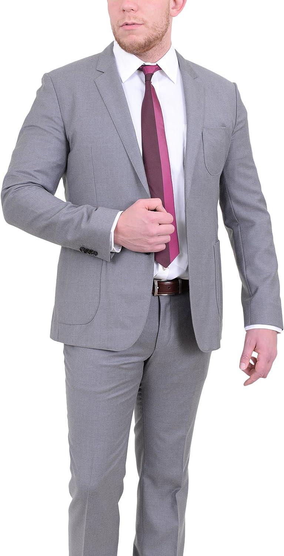 Hugo Boss Rodman/Wild Slim Fit Heather Gray Wool Cashmere Blend Suit