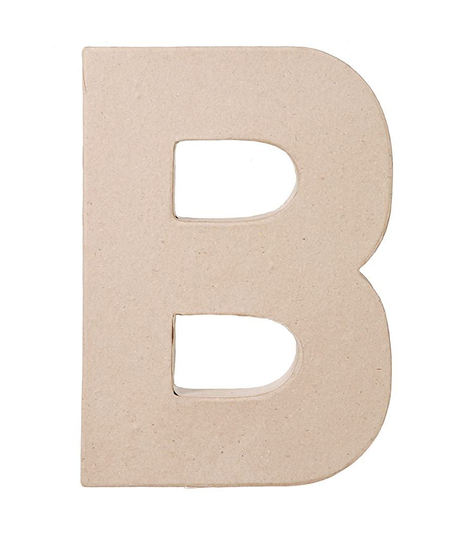 Darice Paper Mache Letter B, 8 by 5 by 1-Inch