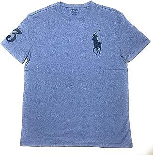 Polo Ralph Lauren Mens Crew Neck Big Pony T-Shirt (Small, Blue Heather)