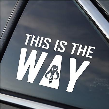 This Is The Way Mandalorian Skull Auto Aufkleber Auto