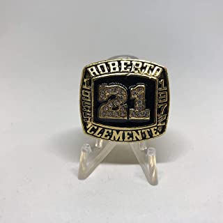 Roberto Clemente Pittsburgh Pirates High Quality Replica 1955-1972 Commeorative Ring Size 11-Gold Colored