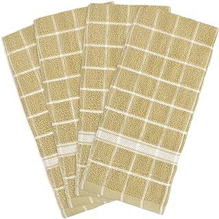 DII Cotton Terry Windowpane Dish Towels, 16 x 26