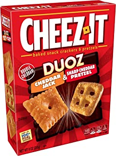 Cheez-It DuozBaked Snack Cheese Crackers and Pretzels, Cheddar Jack and Sharp Cheddar Pretzel, 9 oz