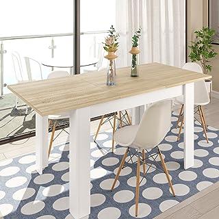 7a6ca9db Habitdesign 0F4586 - Mesa de Comedor Extensible de 140 a 190cm, Mesa Salon  Color Blanco