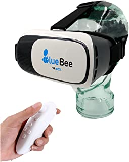8b622fe007 BlueBee Gafas VR + Mando a distancia (Realidad Virtual Genuine 3D Google  Gafas / casco