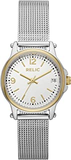 Relic by Fossil Women's Matilda Quartz Watch with Stainless-Steel Strap, Silver, 14 (Model: ZR34562)