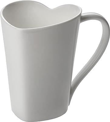 Alessi to Mug aus Bon China 30 cl, Weiß, 3 x 13 x 19 cm