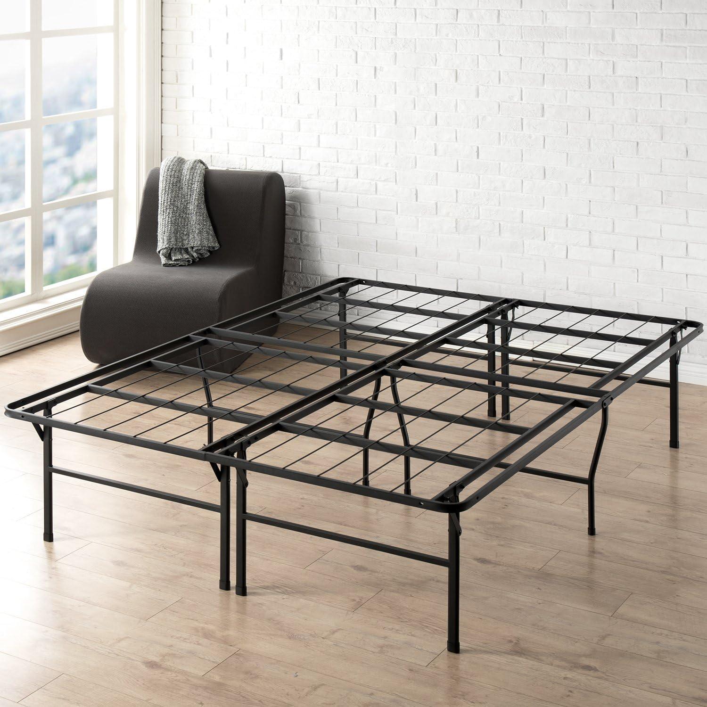 Best Price Mattress Full Bed Frame - 18 Inch Metal Platform Beds w  Heavy Duty Steel Slat Mattress Foundation (No Box Spring Needed), Black