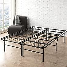 Best Price Mattress 18 Inch Metal Platform Beds w/Heavy Duty Steel Slat Mattress Foundation (No Box Spring Needed), Black
