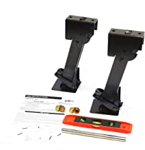 Red Hound Auto 2 Telescoping Folding Trailer Stabilizer Jacks Swing Down 1000 Lbs Support Capacity Each for RV Trailer Camper Includes Handle and Mounting Screws