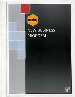 Marbig 25109 Sheet Protectors Medium Weight A4 Box 100