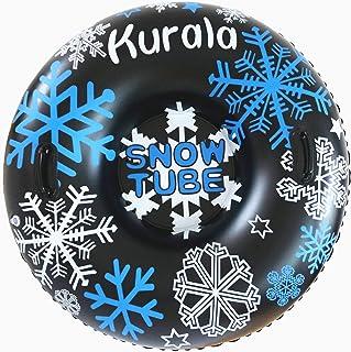 لوله برفی بادی Kurala 47 اینچ با دسته برای اسباب بازی های زمستانی سنگین برای کودکان بزرگسال