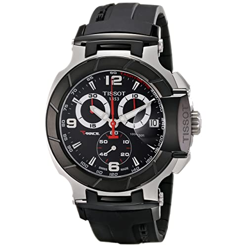 bdc604651dc Tissot Men s T0484172705700 T-Race Black Chronograph Dial Watch