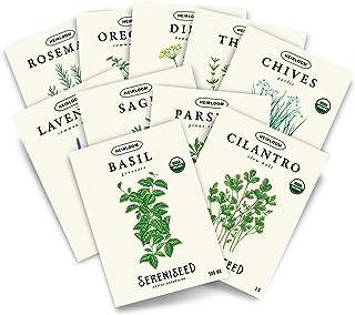 Sereniseed Certified Organic Seed seed Seedise (10 بسته) - 100٪ غیر GMO ، گرده افشانی باز ، انواع هیرلووم ، بسته های 2021 - راهنمای محیط داخلی