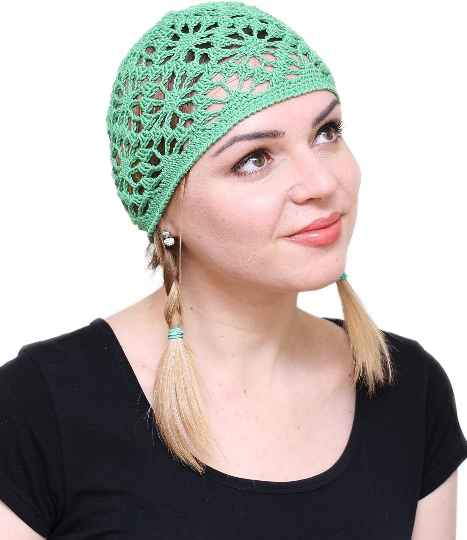 NFB Cotton Hats for Women Ladies Summer Beanie Lace Cloche Hair Accessories Cap