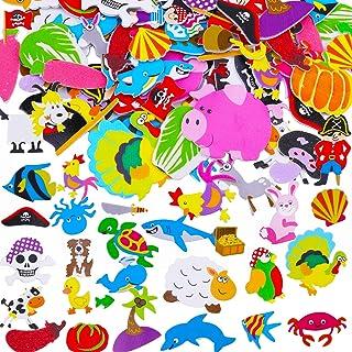 HOWAF Animaux Pirate Autocollants en Mousse, 89 Pack Autocollants 3D pour Enfant Fille Garcon, Gommettes Stickers Enfant R...