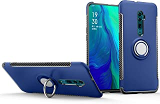 BRAND SET Case for Oppo Reno 10x Zoom with ring bracket PC hard shell and TPU silicone two-in-one double cover shell all-i...