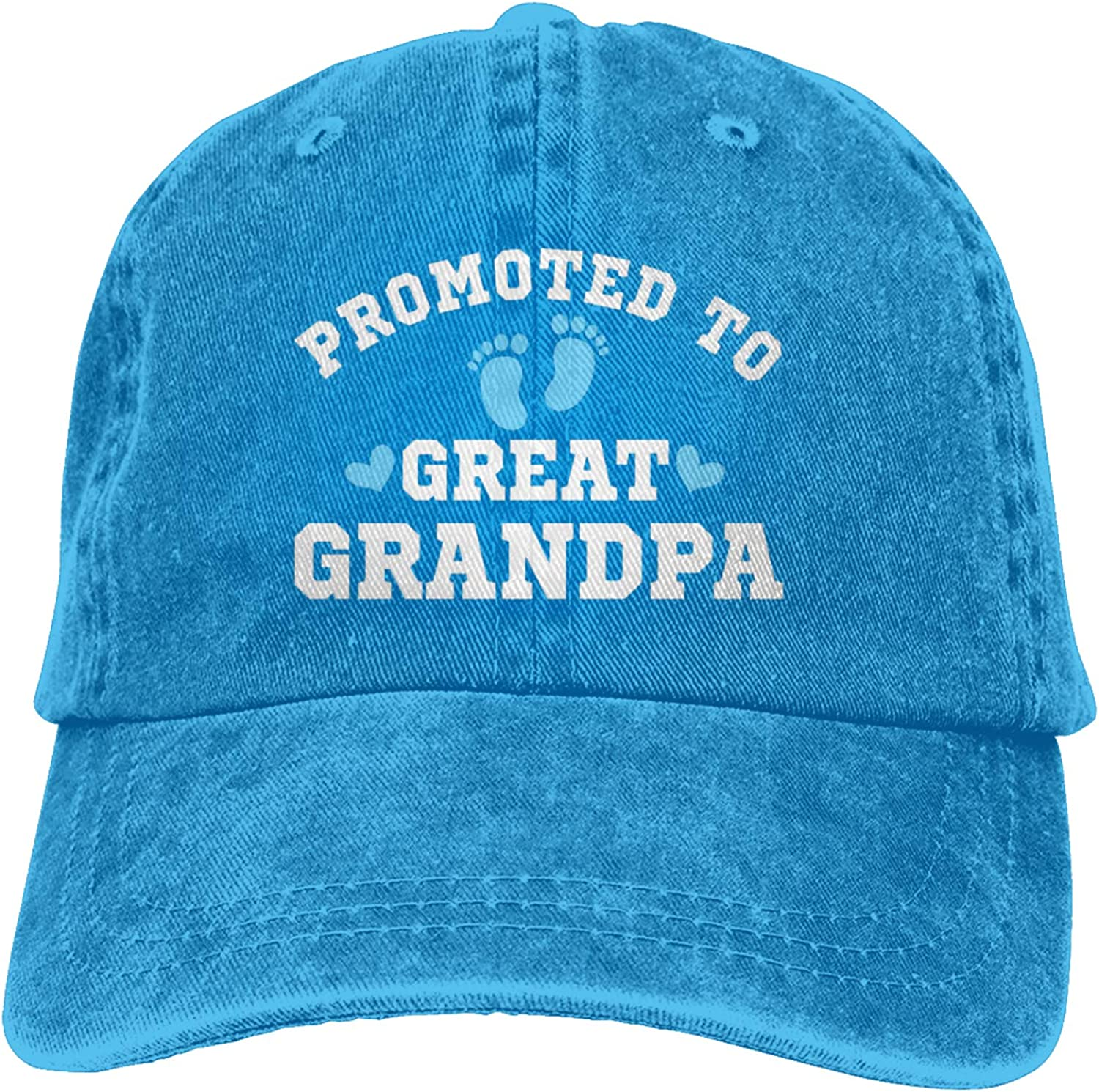 Promoted to Great Grandpa Baseball Cap Unisex Vintage Trucker Hat Adjustable Cowboy Hats for Mens Womens