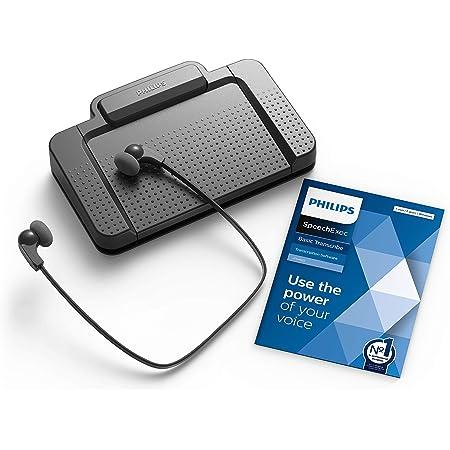 Philips Lfh7177 06 Wiedergabe Set Ergonomischer Usb Fußschalter Acc2330 Stereo Unterkinn Kopfhörer Lfh0334 Inkl Software Speechexec Basic 2 Jahres Abo Bürobedarf Schreibwaren