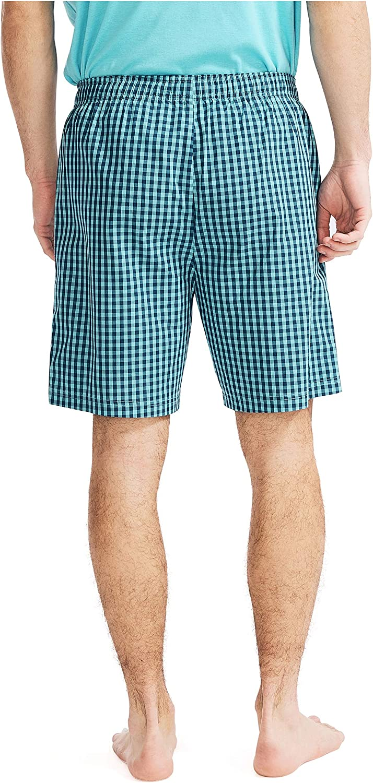 Nautica Men's Soft Woven 100% Cotton Elastic Waistband Sleep Pajama Shorts