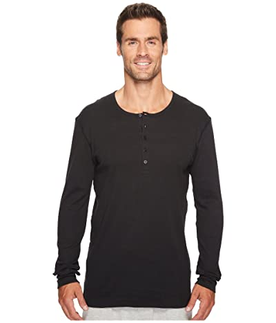 2(X)IST Essentials L/S Henley (Black) Men