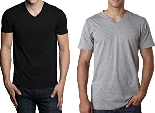 Fruit of the Loom Men's Tucked V-Neck T-Shirt