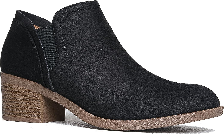 J. Adams Gobi Ankle Bootie - Casual Comfortable Western Round Toe Low Heel Boot