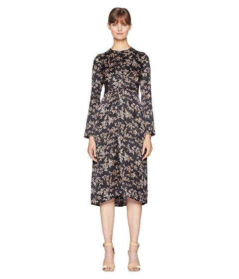 Vince Eden Branch Twist Drape Dress