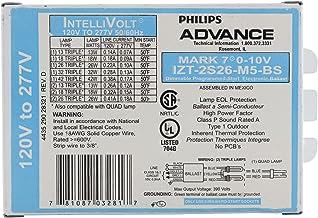 Advance Mark 7 0-10V IZT-2S26-M5-BS - 2 Lamp Fluorescent Ballast - 26 Watt CFL - 120/277 Volt - Dimming - 1.0 Ballast Factor