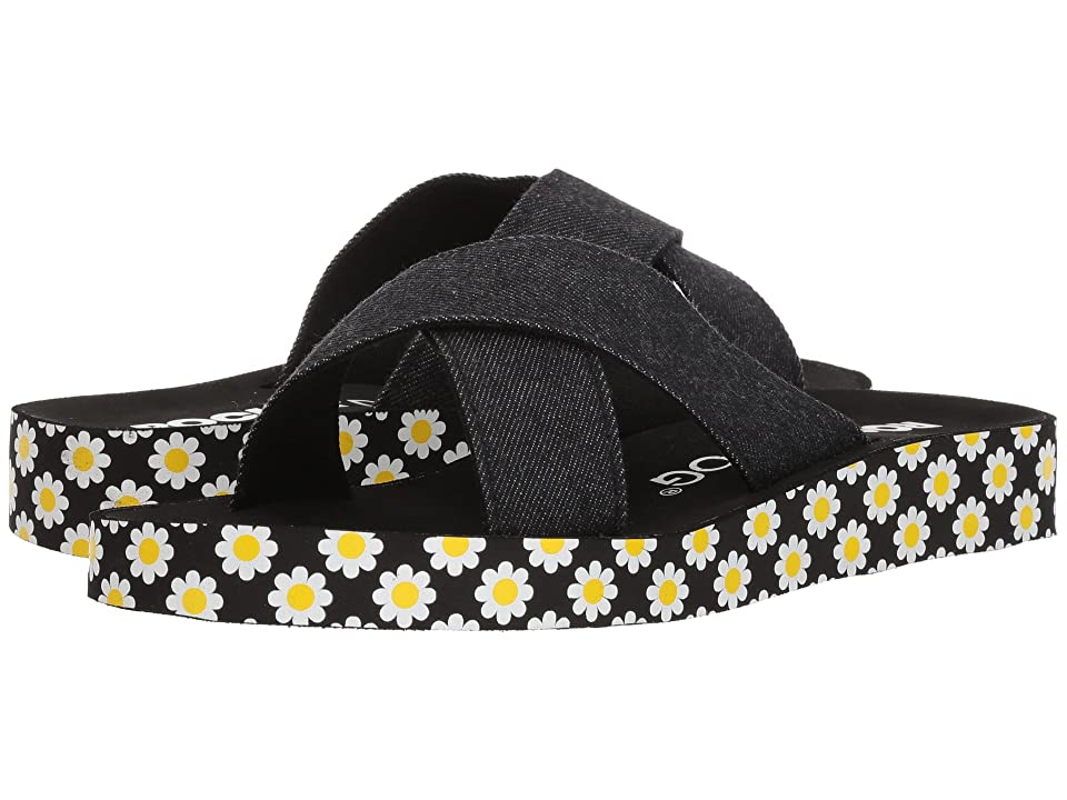 Rocket Dog Crisscross (Black Washed Denim/Daisy Print) Women