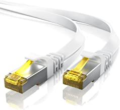 Primewire 15m CAT 7 Network Cable Flat Design – Ethernet Cable | Gigabit LAN 10 Gbit/s | patch cable – flat cable – installation cable| Cat. 7 raw cable U/FTP PIMF shielding with RJ45 connector