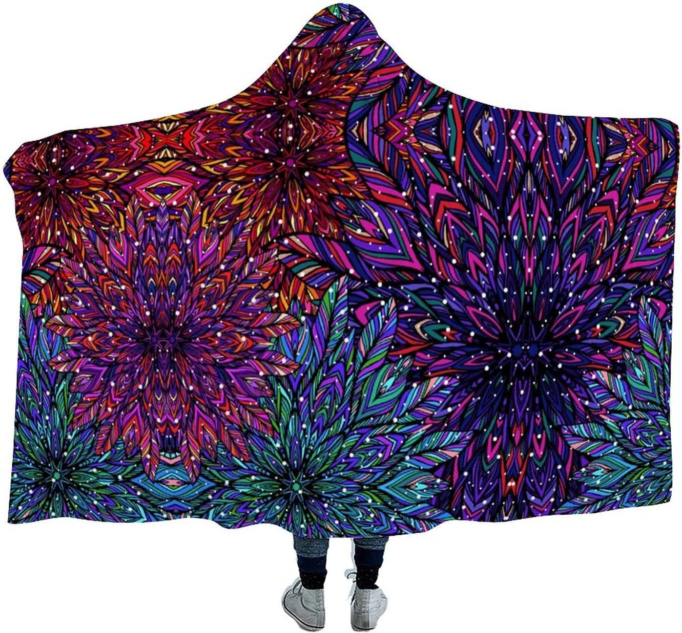 Mandala Bohemian Style 5 ☆ popular Arctic Blanket Velvet Hoodie-Plu Wearable Max 61% OFF