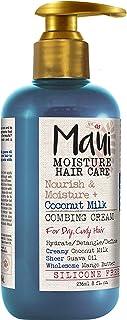 Maui Moisture Nourish Milk Vegan Combing Cream for Dry Curly Hair, Silicone- & Sulfate-Free Aloe Leave-In Conditioner Trea...