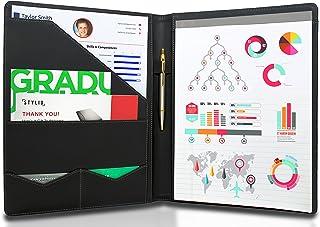 STYLIO Padfolio/Resume Portfolio Folder - Interview/Legal Document Organizer & Business Card Holder - with Letter-Sized Wr...