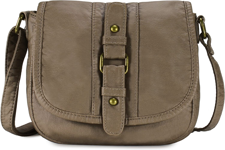 Scarleton Center Strap Accent Flap Crossbody Bag H1991