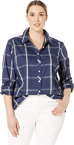 Plus Zoey Windowpane Plaid