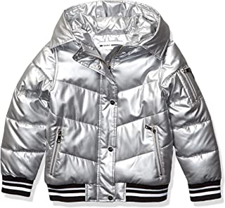 DKNY Girls Puffer Jacket Down Alternative Coat