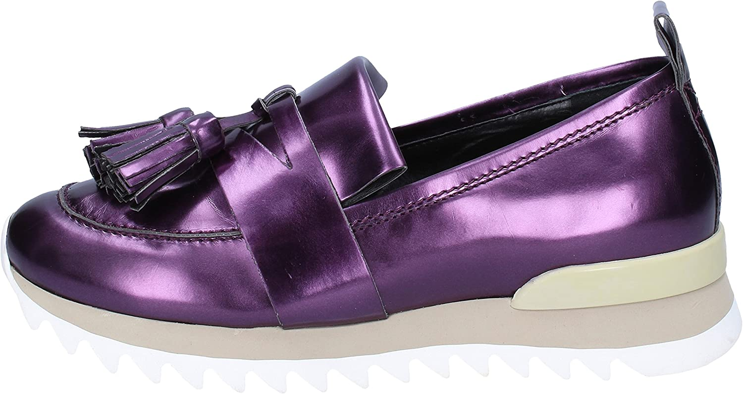 MY GREY MER Loafers-shoes Womens Leather Purple