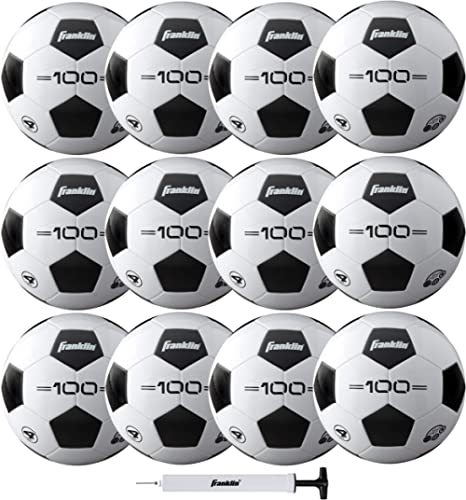 Franklin Sports Soccer Balls - Size 3, Size 4, Size 5 Traditional Soccer Balls - Youth and Adult Soccer Balls - Bulk ...