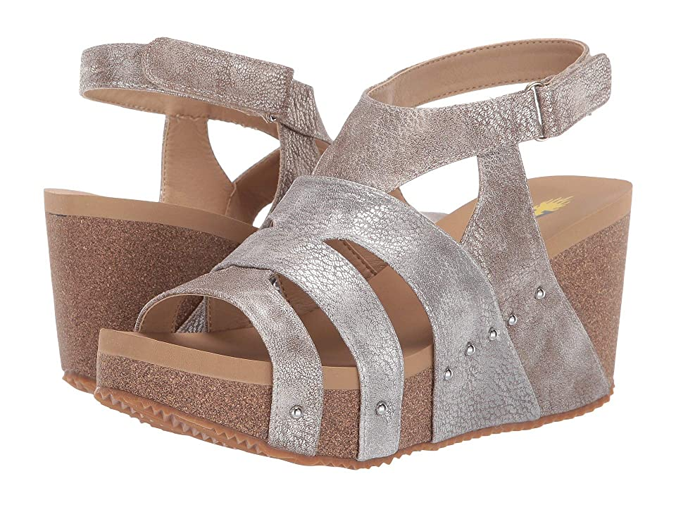 VOLATILE Cubo (Champagne/Multi) Women's Wedge Shoes, Beige