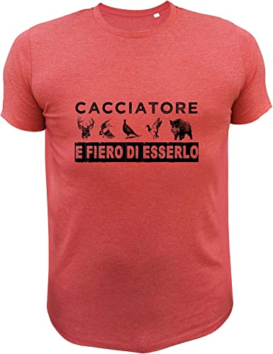 Pernice Rossa AtooDog Maglietta da Caccia Cacciatore e Fiero di esserlo