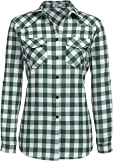 Best green and white womens flannel Reviews