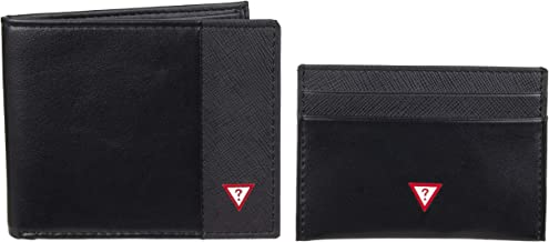 GUESS Men's RFID Set with Slim Bifold Wallet and Card Case Holder