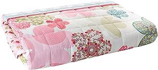 Kids Compressed Comforter 3Piece Set, Single Size, Colored Flowers 3, Pink, Microfiber
