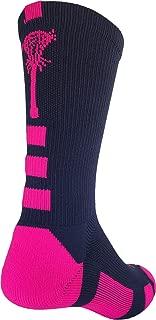 Sports Elite Lacrosse Logo Performance Crew Socks
