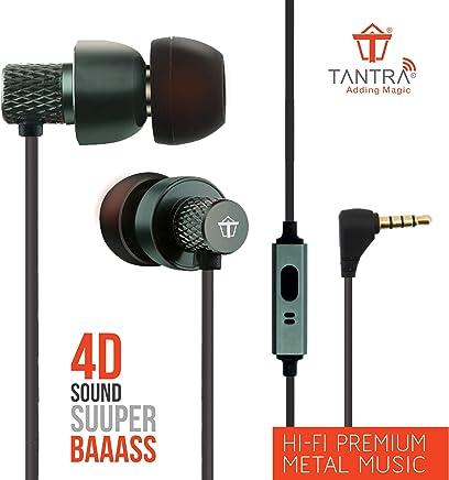Tantra T1000 Super Extra Bass 225 Earphones Subwoofer Wired Headphones (Metal Grey)
