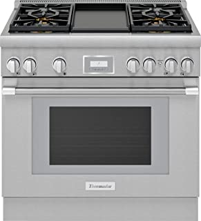Thermador PRG364WDH Pro Harmony 36 Inch Wide 5.1 Cu. Ft. Slide In Gas Range with 4 Burners and Griddle