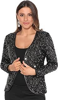 KRISP® Women Tailored Sequin Bolero Jacket Party Blazer Open Evening Shrug