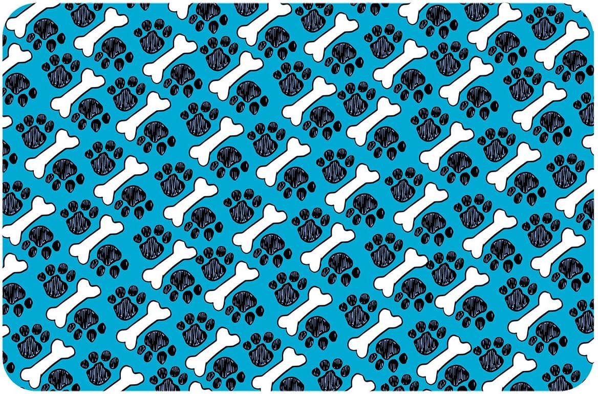 Super sale Ranking TOP9 period limited Premium Comfort Bone Paw Pet Feeder Accent x Mul Mat 22